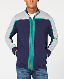 Club Room Men's Colorblocked Fleece Full-Zip Jacket, Created for Macy's