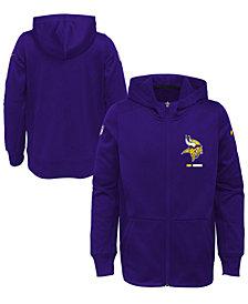 Nike Minnesota Vikings Full-Zip Fleece Hoodie, Big Boys (8-20)