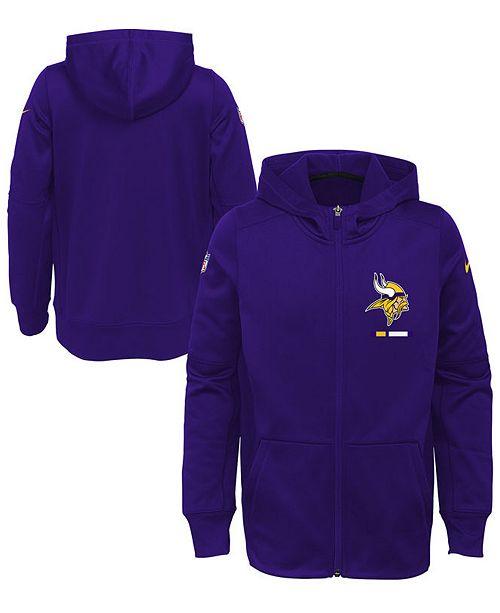 innovative design 1a4ec c9d19 Minnesota Vikings Full-Zip Fleece Hoodie, Big Boys (8-20)