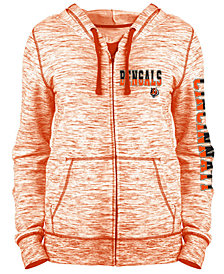 5th & Ocean Women's Cincinnati Bengals Space Dye Full-Zip Hoodie
