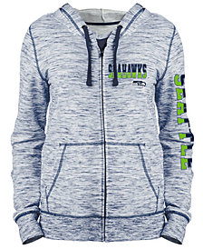 5th & Ocean Women's Seattle Seahawks Space Dye Full-Zip Hoodie