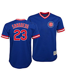 Outerstuff Ryne Sandberg Chicago Cubs Mesh V-Neck Player Top, Big Boys (8-20)