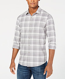 Club Room Men's Briston Plaid Stretch Shirt, Created for Macy's