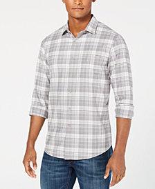Club Room Men's Briston Plaid Stretch Shirt, Created for Macy's