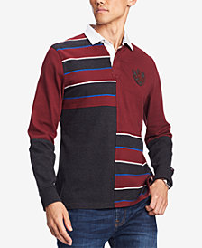 Tommy Hilfiger Men's Sean Colorblocked Stripe Rugby Polo