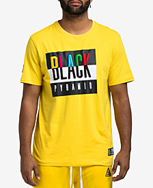 Black Pyramid Men's Color Contrast Logo Graphic T-Shirt