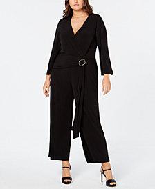 Calvin Klein Plus Size Belted Jumpsuit