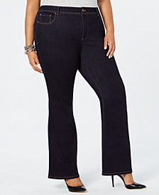 I.N.C. Plus Size Bootcut Tummy Control Jeans, Created for Macy's