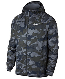 Nike Men's Woven Camo-Print Training Jacket