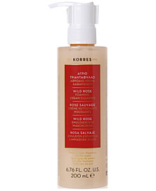 Korres Wild Rose Foaming Cream Cleanser, 6.76 oz.