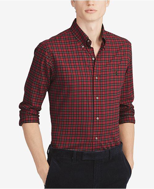 71c952ca4 Polo Ralph Lauren Men s Classic Fit Plaid Cotton Shirt   Reviews ...