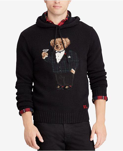f315cf384c40c Polo Ralph Lauren Men s Polo Bear Hoodie   Reviews - Sweaters ...