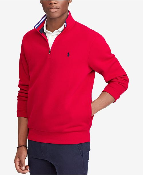 3e7944116743 Polo Ralph Lauren Men s Double-Knit Mesh Half-Zip Pullover   Reviews ...