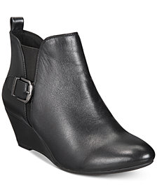 Anne Klein Abilene iflex Wedge Booties, Created for Macy's