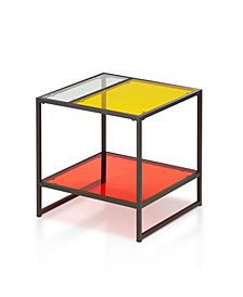 Tia Contemporary Glass End Table