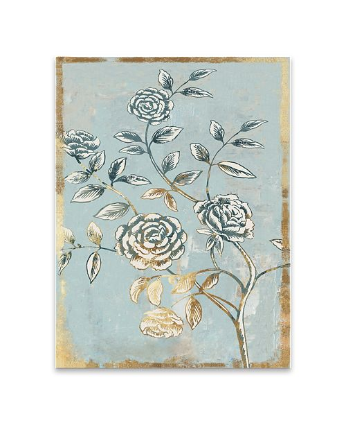Artissimo Designs Pale Damask II Hand Embellished Canvas