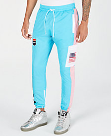DOPE Men's Classic Fit Cargo Sport Graphic Track Pants