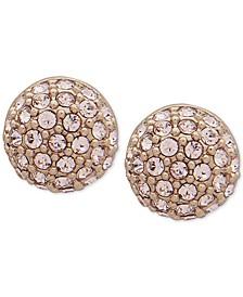 Gold-Tone Pavé Fireball Stud Earrings