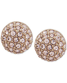Givenchy Gold-Tone Pavé Fireball Stud Earrings