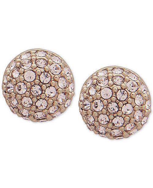 Givenchy Gold-Tone Pavé Fireball Stud Earrings