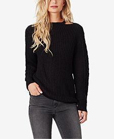 Jessica Simpson Juniors' Oasis Cutout Cable-Knit Sweater