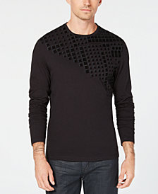 Alfani Men's Flocked T-Shirt, Created for Macy's