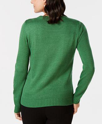 Karen Scott Sequined Reindeer Holiday Sweater Created For Macys