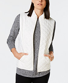 Karen Scott Petite Quilted Puffer Vest, Created for Macy's