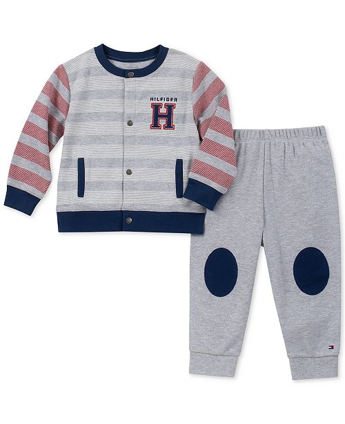 aa6f0bb1b Tommy Hilfiger Baby Boys 2-Pc. Cardigan   Jogger Pants Set ...