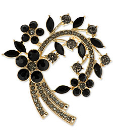 Anne Klein Stone Arched Cluster Pin, Created for Macy's