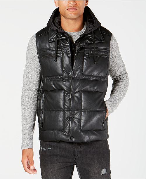 7ba7df9b92fd Sean John Men s Hooded Puffer Vest - Coats   Jackets - Men - Macy s