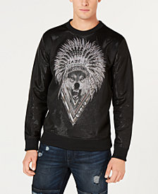 GUESS Men's Wolf Graphic Sweatshirt