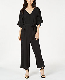Be Bop Juniors' V-Neck Dolman Sleeve Jumpsuit