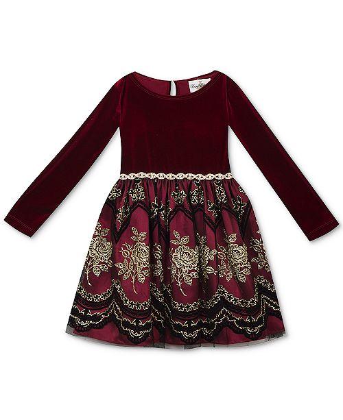 800766f2e Rare Editions Baby Girls Velvet   Flocked-Mesh Dress   Reviews ...