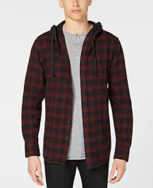American Rag Men's Hooded Marlen Plaid Shirt, Created for Macy's