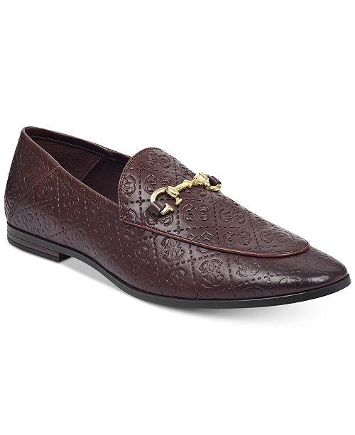 3b34aaef0aa GUESS Men s Edwin Patterned Loafers  GUESS Men s Edwin Patterned Loafers ...