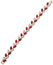Anne Klein Multi-Stone Vine-Inspired Link Bracelet, Created for Macy's