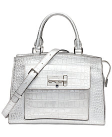 DKNY Elizabeth Metallic Snakeskin Satchel, Created for Macy's
