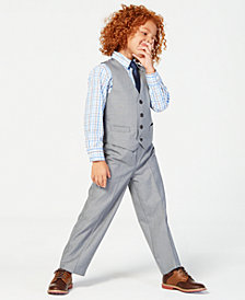 Nautica 3-Pc. Sharkskin Vest, Shirt & Pants Set, Little Boys