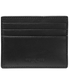 Men's Leather Money-Clip Card Case