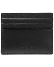 Michael Kors Men's Leather Money-Clip Card Case