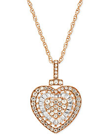 "Diamond Heart 18"" Pendant Necklace (1/2 ct. t.w.)"