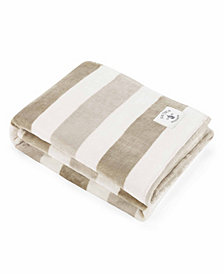 Nautica Awning Stripe Collection Throw Blanket Blanket