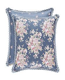 "Piper & Wright Braylee Indigo 20"" Square Pillow"