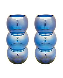 Cobalt Ring Votives - Set Of 2