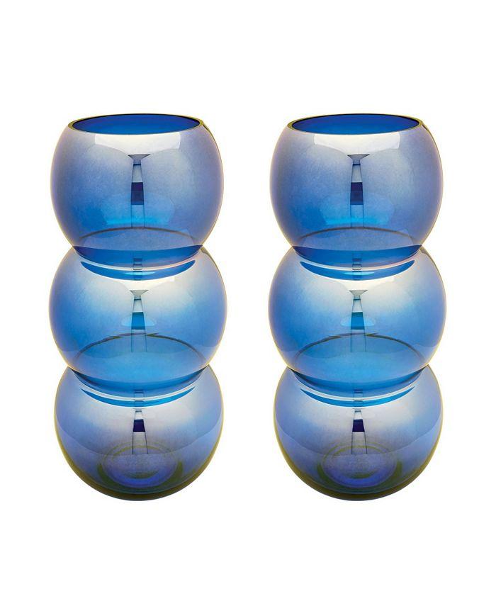 Dimond Home - Cobalt Ring Votives - Set Of 2