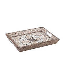 Shell Mosaic Serving Tray