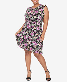 RACHEL Rachel Roy Trendy Plus Size Lora A-Line Dress