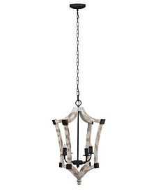 Andreas Wood And Iron Winged Chandelier