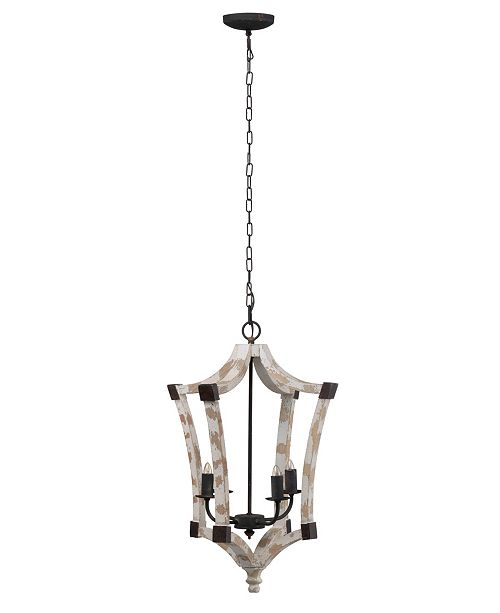 AB Home Andreas Wood And Iron Winged Chandelier
